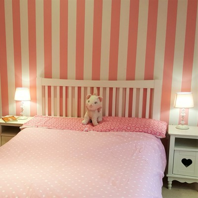 Girl's pink bedroom makeover by lucyjinteriors Surrey